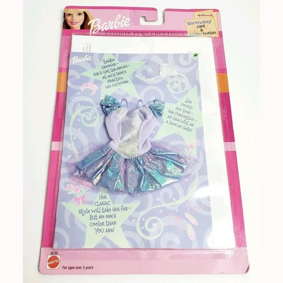 Barbie Other - 2001 Barbie Fashion Fun Birthday Card & Clothes